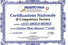 Certificazione Nazionale Pilates